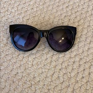 Black with gold detailing cat eye sunglasses